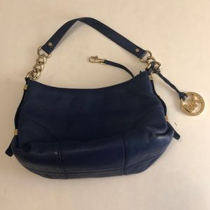 Michael Kors blue handbag